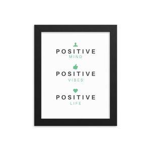 Positive Vibes Framed Wall Art 8x10